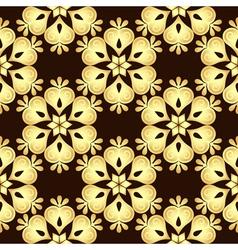Seamless brown vintage pattern vector