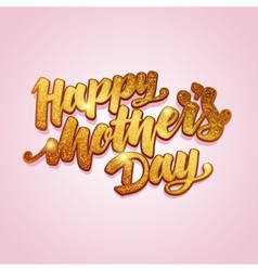 Mothers day gold lettering card vector