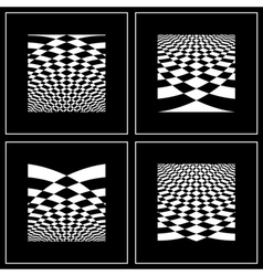 Op art background set vector