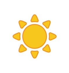 Sun icon light sign with sunbeams yellow vector