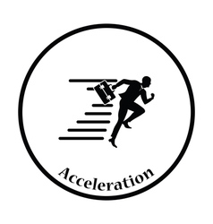 Icon of accelerating businessman vector