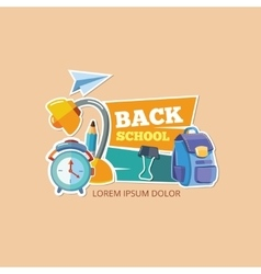 Design template with school emblem vector