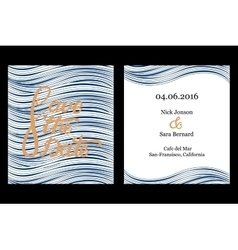 Save the date invitation card design vector