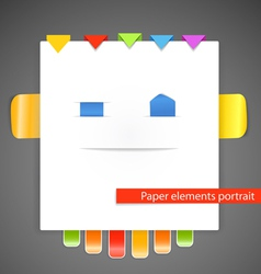 Abstract portrait of paper elements vector image vector image