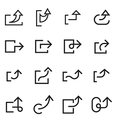 Arrow share icons vector