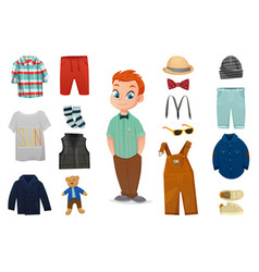 baby boy fashion icon set vector image vector image