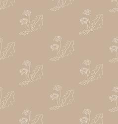 Background from dandelions vector