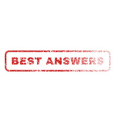 best answers rubber stamp vector image