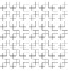 Black and white geometric seamless pattern modern vector