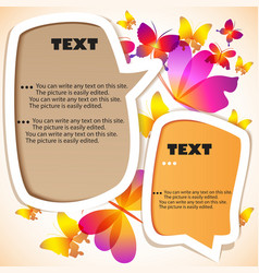 butterflies speech bubbles vector image vector image