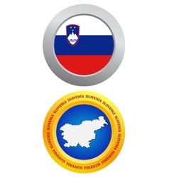 button as a symbol SLOVENIA vector image