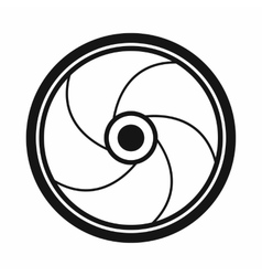 Camera shutter aperture icon simple style vector image