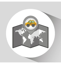 Car taxi icon map pointer graphic vector