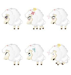 Cute chibi sheep vector