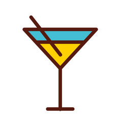 cute yellow cocktail cartoon vector image