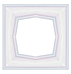 Decorative square frame vector