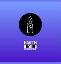 earth hour movement vector image vector image