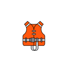 flat icon life jacket vector image