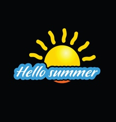 hello summer with sun vector image vector image