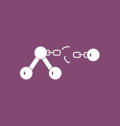 Icon atom and broken chain vector