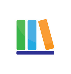 library book icon logo image vector image vector image