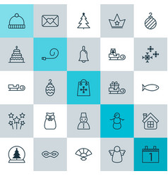 New icons set collection of archangel present vector