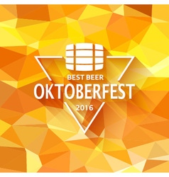 Oktoberfest triangle label vector