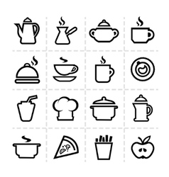 simple food icons vector image vector image