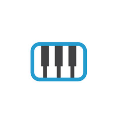Synthesizer flat icon symbol premium quality vector