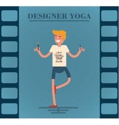 Young redhead designer vector
