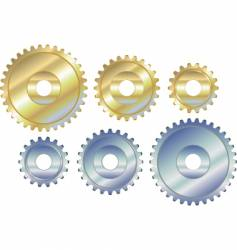 Sprocket cogs vector