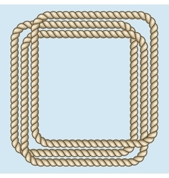Square nautical brown ropes frame vector