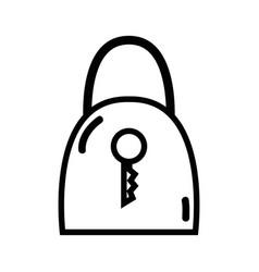 Figure padlock security tool service vector