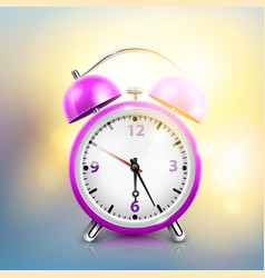 Realistic alarm clock background vector