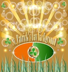 St patrick put the clover good luck traditionally vector
