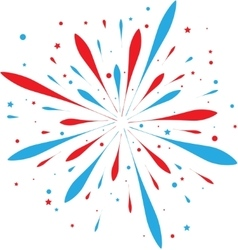 Abstract firework vector