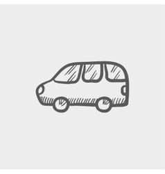 Van transport sketch icon vector