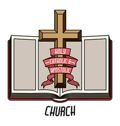Catholic design vector