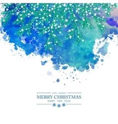 Christmas Watercolor Background vector image