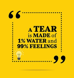 Inspirational motivational quote a tear is made of vector