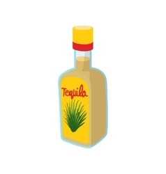 Tequila bottle icon cartoon style vector