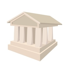 Bank icon in cartoon style vector