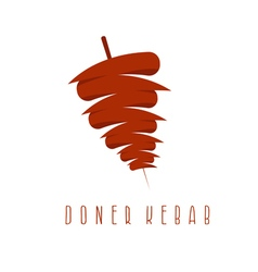 Simple flat of doner kebab vector