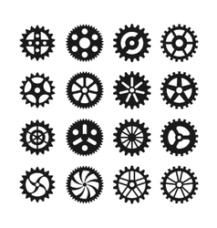 Gear wheels icons vector image