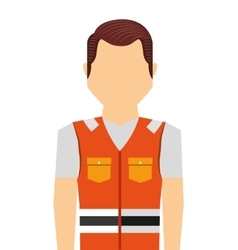 Worker man uniform security icon vector