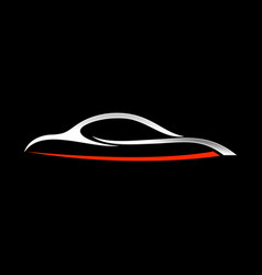 Abstract custom car shape lines symbol vector