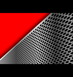 abstract silver circle mesh triangle red modern vector image vector image