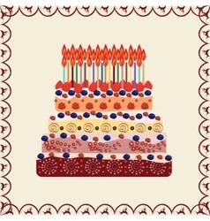 Birthday cake thirty years vector
