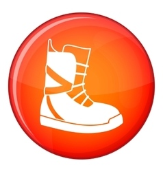 Boot for snowboarding icon flat style vector image vector image