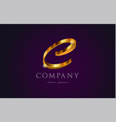 C gold golden alphabet letter logo icon design vector